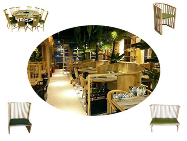 四季椰林餐厅火锅桌椅定制