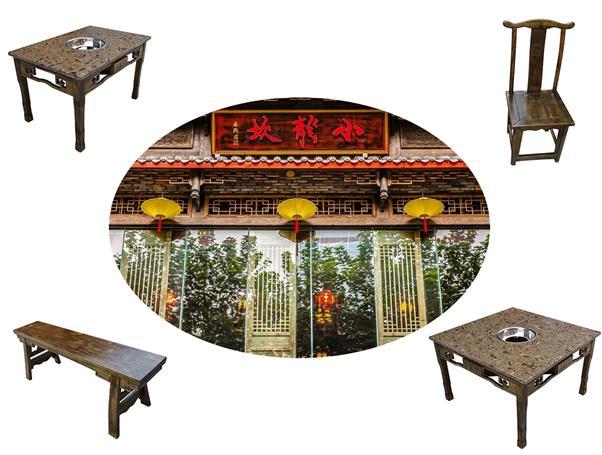 小龙坎南山店老火锅桌