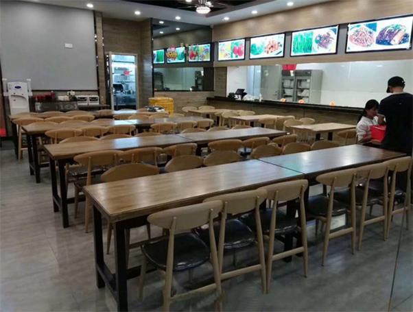 学校员工食堂餐桌椅_学