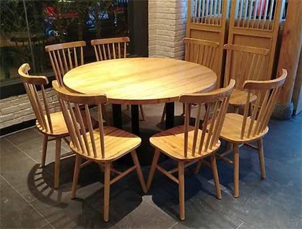 企业食堂饭店实木桌椅