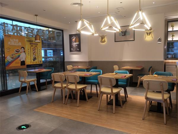 豪客来西式连锁餐厅新店餐桌椅定做