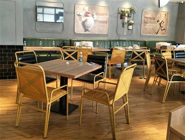 豪客来牛排佛山大沥店西餐厅桌椅定制