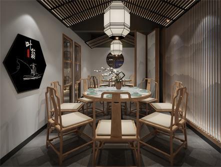 徽菜叶翁酱烧鱼餐厅桌