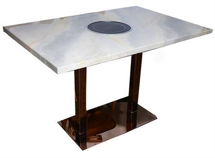 不锈钢桌脚轻奢大理石台