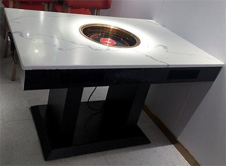 四人位大理石电磁炉火锅桌