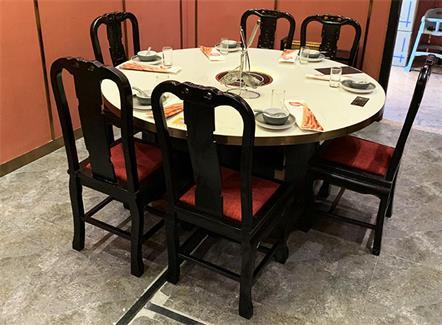 火锅店包厢专用大理石火锅餐桌