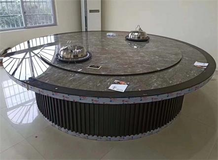 别墅酒店电动餐桌大圆桌