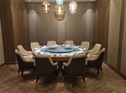 十人以上火锅圆桌_火锅12人桌转盘带电磁炉的电动圆桌