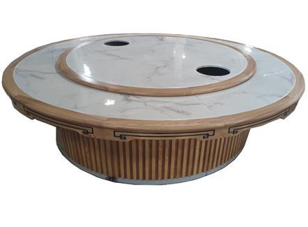 自动旋转电磁炉电动火锅餐桌