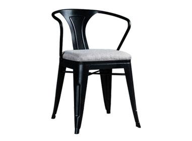 复古工业风铁艺软包椅子