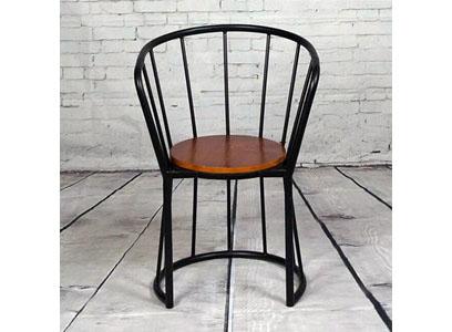 工业风家具餐椅 铁艺缕空靠背餐椅 咖啡馆创意围