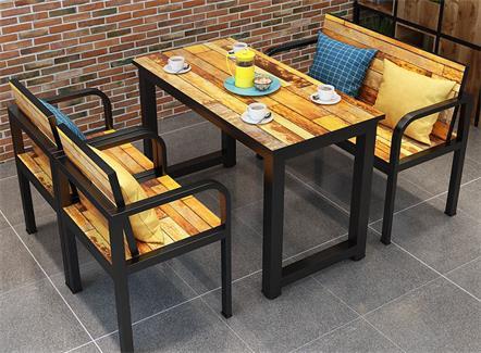 复古个性主题餐厅快餐店饭店食堂面馆咖啡奶茶店桌椅