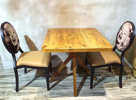 饭店酒楼湘菜馆美式乡村复古风实木餐桌椅