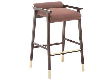 中式简约实木高脚吧椅咖啡厅家具