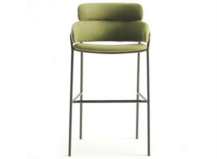 美式现代简约咖啡店不锈钢吧台高脚椅