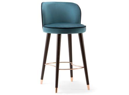 现代咖啡厅轻奢不锈钢高脚吧椅