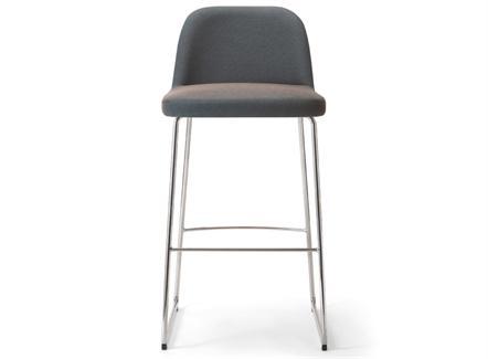 韩式现代简约咖啡馆不锈钢高吧椅