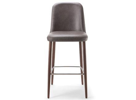 北欧咖啡店实木复古吧台高脚椅