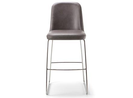 现代简约咖啡馆不锈钢休闲吧椅