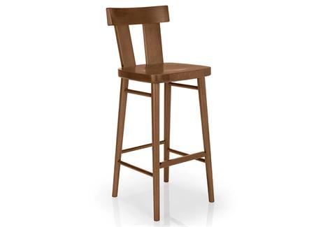 中式实木咖啡馆休闲吧台高脚椅