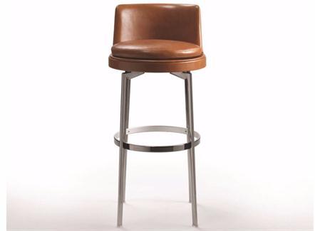 北欧风咖啡馆不锈钢高脚椅