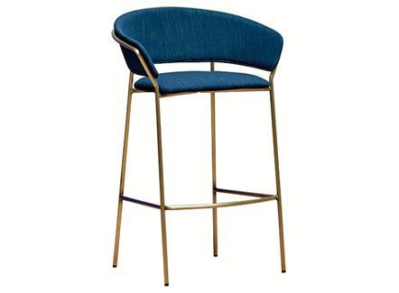 北欧风简约不锈钢咖啡厅高吧椅