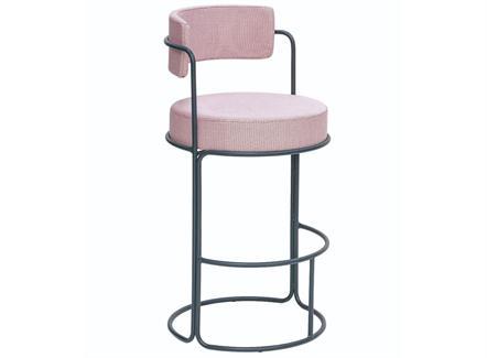 美式软包铁艺咖啡厅高脚椅