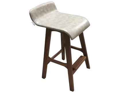 西餐咖啡厅实木高脚吧椅_休闲软包简约餐厅吧凳