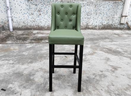 咖啡厅时尚实木吧椅_咖啡店吧台高脚椅