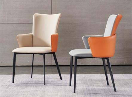 北欧风休闲铁艺高靠背咖啡厅椅子