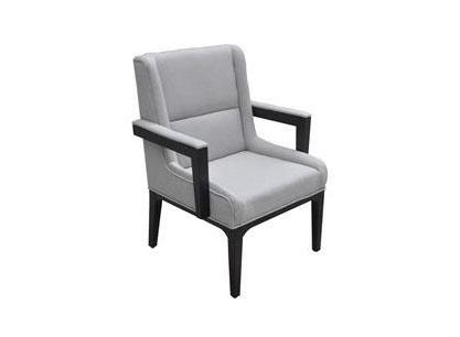 咖啡厅实木沙发椅现代单人沙发禅意休闲沙发椅