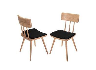 北欧实木椅子 现代简约
