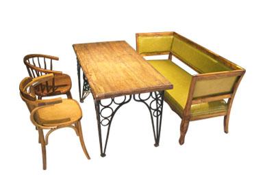 胡桃里复古咖啡厅桌椅卡座组合