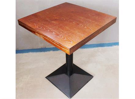 咖啡馆休闲双人位小方桌_实木咖啡桌