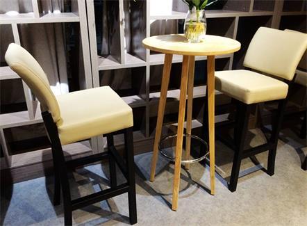 北欧风格咖啡厅酒吧奶茶店书吧实木吧台吧椅