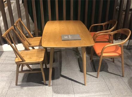 现代简约休闲茶几_咖啡厅实木原木桌椅-厂家直销