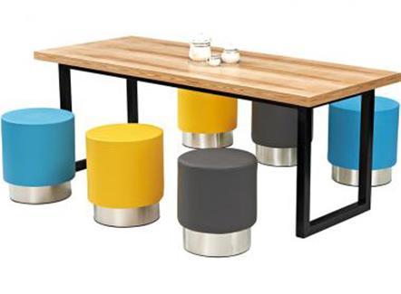 咖啡长方形桌椅_咖啡店休闲桌椅_咖啡馆实木桌椅