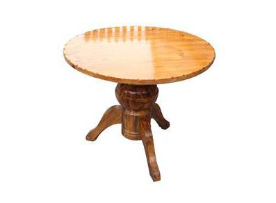 原木灯笼脚圆形咖啡店桌子