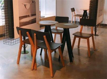 创意奶茶店桌子椅子_奶