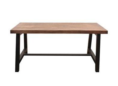 工业风复古铁艺咖啡厅实木餐桌