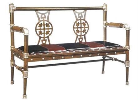 美式loft个性休闲咖啡厅_西餐厅铁艺沙发卡座