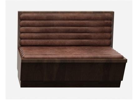 西餐厅古典实木卡座沙发