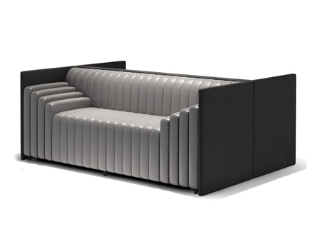高档咖啡厅个性皮革软包卡座沙发