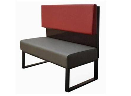 美式咖啡馆铁艺时尚卡座沙发