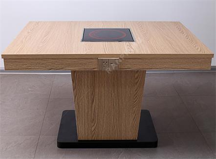 防火板带抽屉电磁炉餐桌