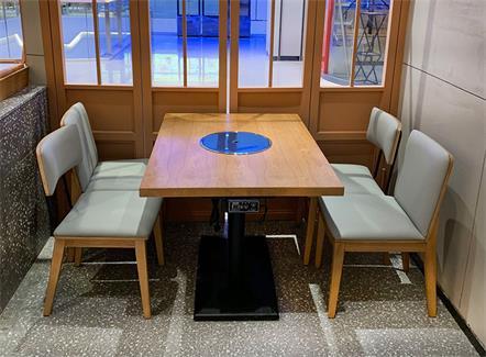 简约木制火锅餐桌_木质