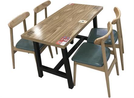 4人位餐厅食堂桌椅_工厂
