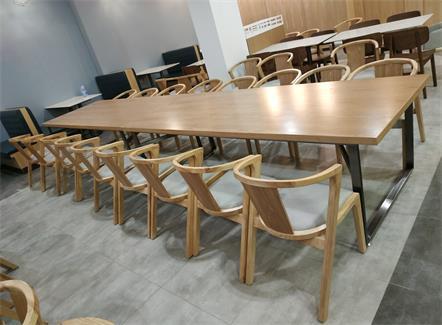 公司餐厅食堂实木桌椅
