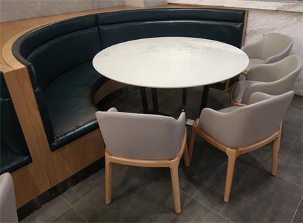 学校食堂桌椅_工厂食堂桌椅_大理石圆形餐桌