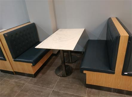 食堂快餐店4人位大理石